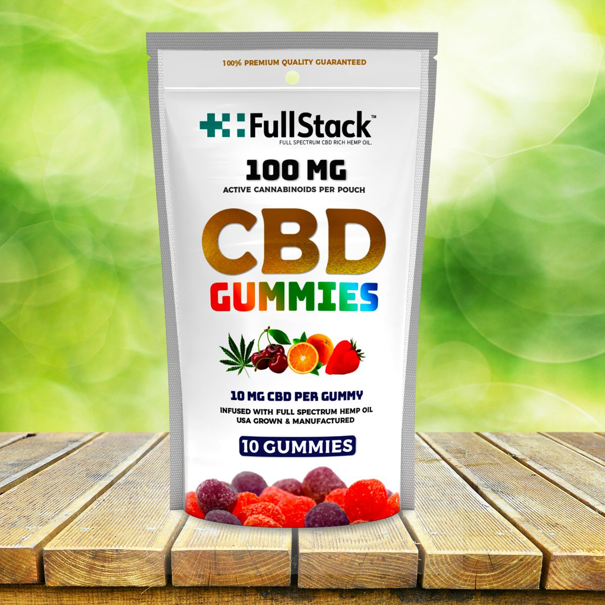 fullstack cbd gummies 10 pack 100mg