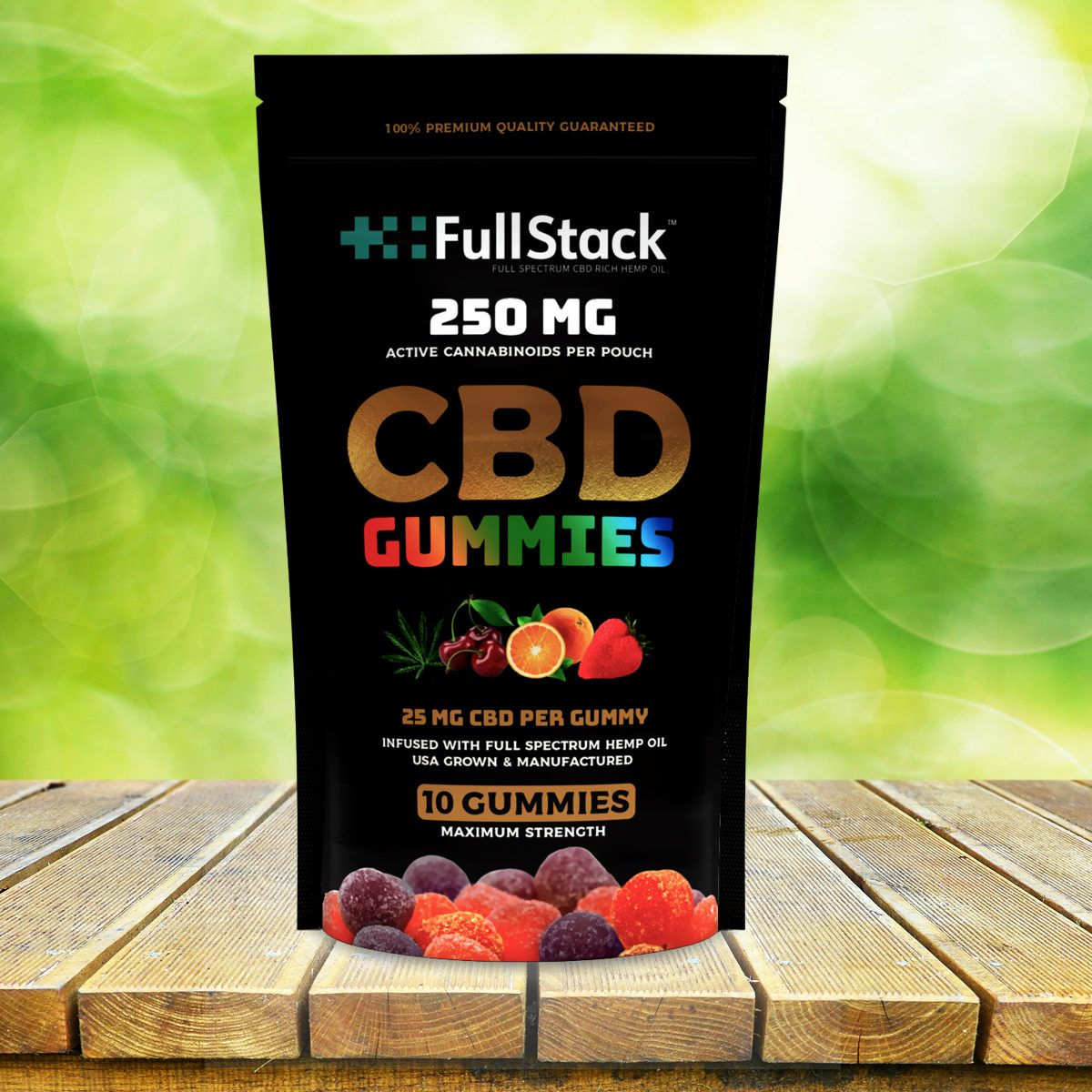 fullstack cbd gummies 250mg 10 pack