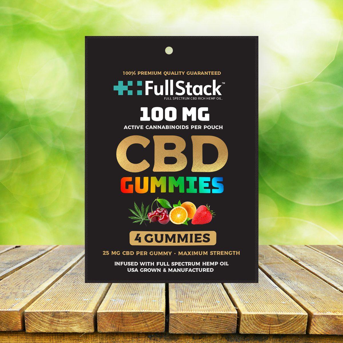fullstack cbd gummies 100mg 4 pack